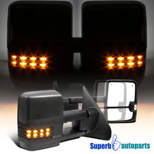 For 2007-2017 Toyota Tundra Power Heat Blind Spot Tow Mirrors+Smoke LED Signal