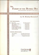 Rimsky Korsakoff The Flight of the Bumble Bee Solo Piano Music Book Fischer Ed