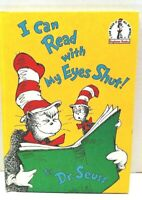 Dr. Seuss Book I Can Read with My Eyes Shut 1978