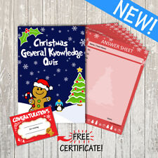 10 Player Christmas General Knowledge Quiz / Party / Family Game: 15 Questions