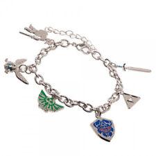 Nintendo The Legend of Zelda Six Logos Charm Bracelet NEW UNUSED