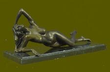 Bronze Art Sculpture Signed Original Mavchi Nude Naked Laying  Statue Figure LRG