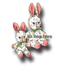 Vintage Stuffed Animal Pattern ~ Bunnies