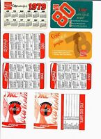 Coca-Cola Vintage Pocket Calendars (Various Years - 9 DIFF))   free shipping