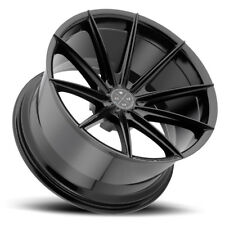 "22"" BLAQUE DIAMOND BD11 BLACK CONCAVE WHEELS RIMS FITS CHEVROLET CAMARO LS LT SS"