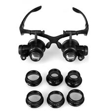 10X 15X 20X 25X LED Magnifying Magnifier Eye Glasses Loupe Watch Jeweler Repair