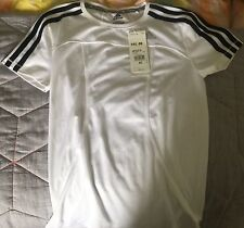 Womens White Adidas Climalite Top - Size XS. Round Neck. NEW WITH TAGS RRP $45
