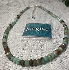 "Jay King Mine Finds Faceted AQUAMARINE QUARTZ(?)  925 Silver 18""Necklace ~ RARE!"