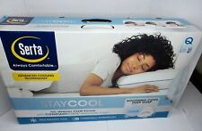 SERTA Stay Cool DUO Gel Memory Foam White Pillow CONSTANTCOOL