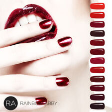 RA Soak Off UV Nagellack Gellack Rot Lack UV/LED Gel Polish Weinrot 12 Farbe DE
