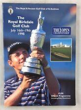 1998  Open Championship Golf Program Royal Birkdale St Andrews has daily insert