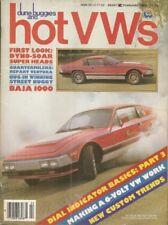 DUNE BUGGIES & HOT VW'S 1983 FEB - BAJA, WATER COOLED DUB, 6 VOLT TECH