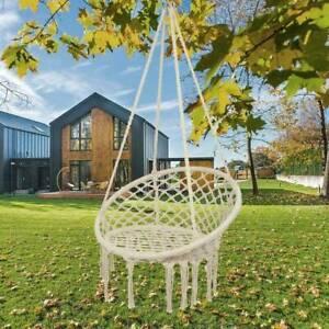 Hanging hammock Rope Swing Chair Macrame Hammock Seat Outdoor Indoor Garden New