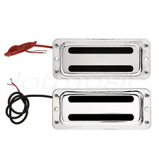 Mini Humbucker Pickup Bridge and Neck for Bass Guitar Chrome 1 Set
