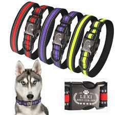 Personalized Dog Collar Reflective Custom Engraved Name Samll Medium Large Dogs