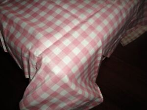 WAVERLY HEIRLOOM GEORGINA CHECK GINGHAM PINK ROSE (1) SQUARE TABLE TOPPER 36X36
