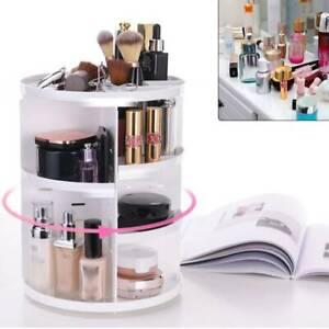 360° Rotating Cosmetics Jewellery Box Makeup Organiser Storages Organizer Stand