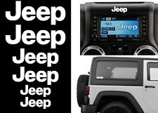 6 Pack White JEEP Stickers Decals For Wrangler Cherokee Renegade JK XJ TJ YJ JL