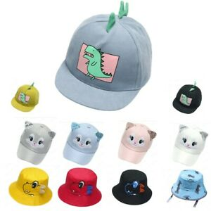Baby Boy Hats Cartoon Soft Cotton Sunhat Eaves Baseball Cap Sun Hat Beret