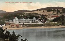 TADOUSAC QUEBEC CANADA~HOTEL~LOWER ST LAWRENCE~RAILWAY NEWS POSTCARD 1900s