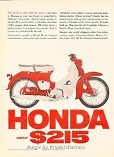 1965 Honda Motorcycle Bike 50 - Original Advertisement Print Art Ad J663