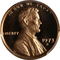 1973-S Lincoln Cent PCGS PR69RD DCAM Outstanding Frost - STOCK
