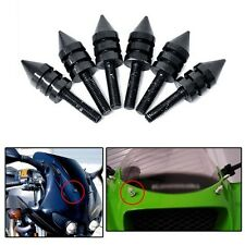 Universal Motorcycle Spike Bolts BLACK (Windscreen, Fairings, License Plate)