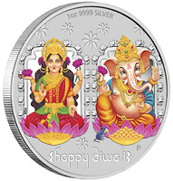 2019 Tuvalu Diwali Festival 1oz .9999 Silver MEDALLION *Previous-Issue-Sold-Out*