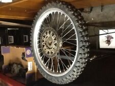 1990 Suzuki front wheel rim with front rotor and tire   rm125 rm 125 1989 1991