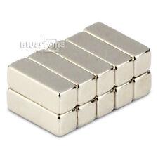 Lot 10pcs Strong Cuboid Block Bar Magnets 12 x 4 x 4mm Rare Earth Neodymium N50