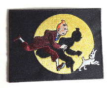 """Tin Tin in Spotlight  3.5"""" Fully  Embroidered Patch- FREE S&H (EBPA-TinTin)"""