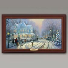 A Holiday Gathering Thomas Kinkade ILLUMINATED CANVAS PRINT Wall Art
