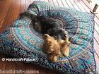 Extra Large Elephant Mandala Floor Cushions/ Dog bed Square Pillow Cover Indian