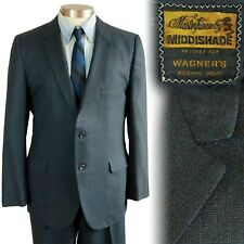 Vintage 1950s early 1960s Two Button Middishade Suit 40 42 34x28.5