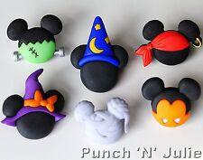 MICKEY MINNIE HALLOWEEN HATS Disney Wizard Witch Pirate Vampire Craft Buttons