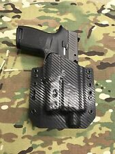 Carbon Fiber Kydex Holster SIG P320 Compact Threaded Barrel Surefire XC1