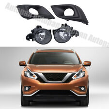 A Set Front Fog Lights Lamps and Cover 4PCS Kit For Nissan Murano 2015-2018