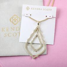 NEW Kendra Scott Simon Long Pendant Necklace In Gold
