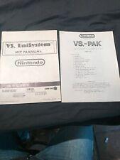 Nintendo Vs Unisystem Video Arcade Original Service Manual