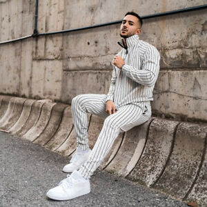 Mens Tracksuit 2 Piece Casual Pant Hoodie Sweatsuit Hip Hop Sweatshirt Suit Set