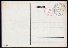 Sbz notausgabe, Blanco-Kte. 6 rpf. redevance réf. + tagesstpl. Markkleeberg 20.7.45