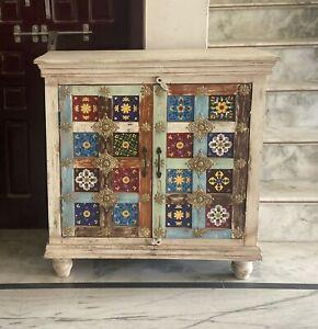 Handmade Hand Carved Siramika Solid Wood Sideboard in Rustic Furnitrure