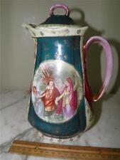 Antique Royal Vienna Victoria Austria BeeHive  Figural Classical Tea Coffee Pot