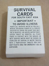 US ARMY SET Survival Cards for South East Asia 1968 Series Vietnam cartes 56 PC.