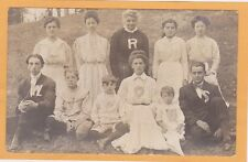 Real Photo Postcard RPPC - People as Merry Widows Sign Cayuga Lake Park NY