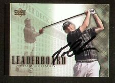Tom Lehman #96 Leaderboard signed autograph auto 2001 Upper Deck Golf Card