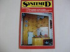 SYSTEME D N°307 AOUT 1971 AMENAGT CUISINE LIT ARMOIRE CHAMBRE ENFANT COMPRESSEUR