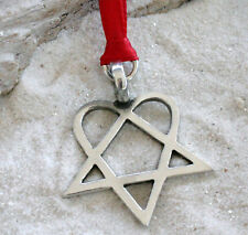 HEARTAGRAM HIM Silver Pewter Christmas ORNAMENT Holiday