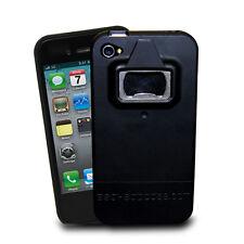 Negro de goma de agarre antideslizante Protector Abrebotellas Estuche Para Iphone 4s 4