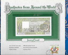 New listing World Banknotes Ivory Coast 500 Francs 1983 P106Af Unc sign. 17 Pre Y.4